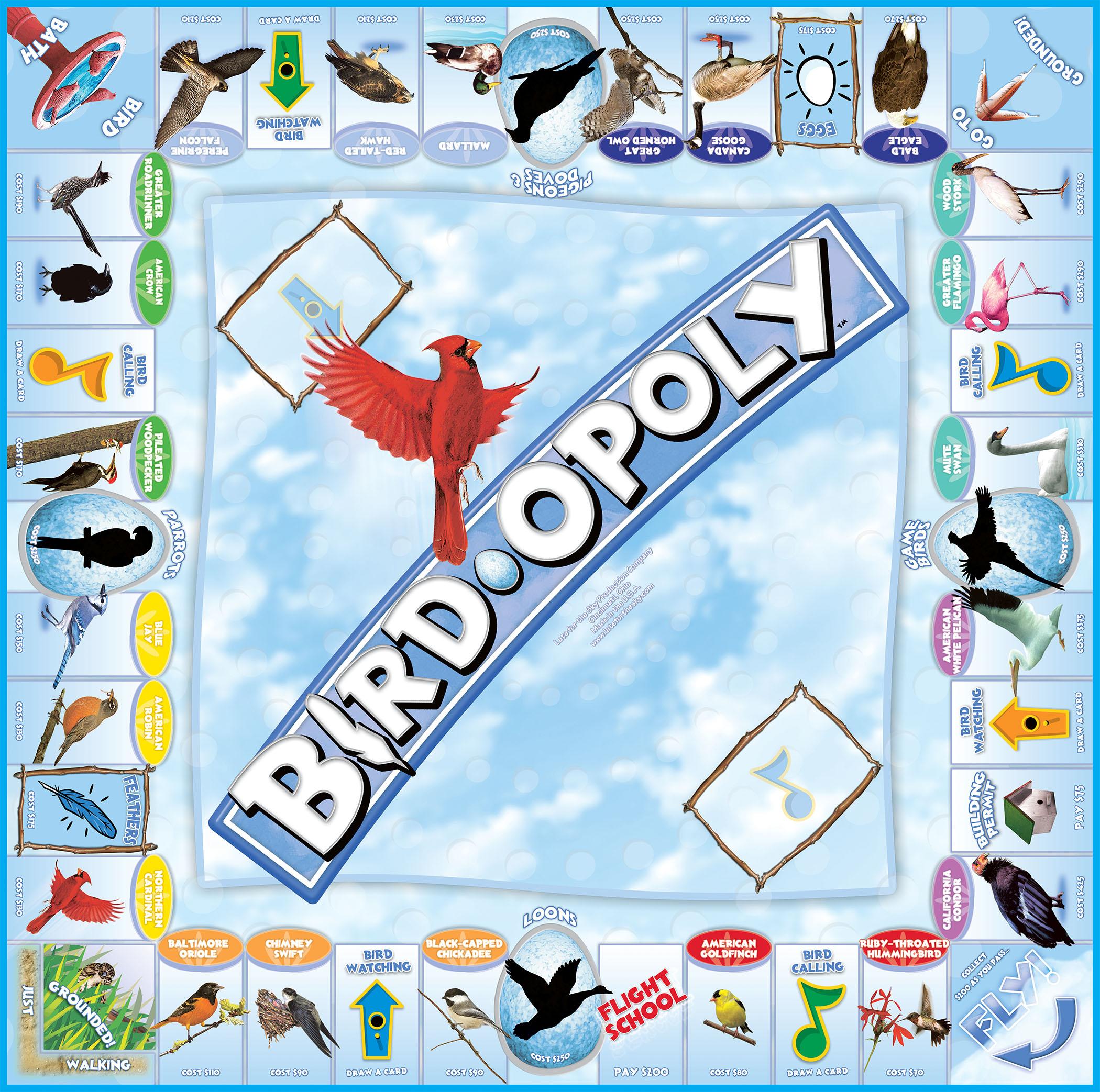 BIRD-OPOLY Board Game