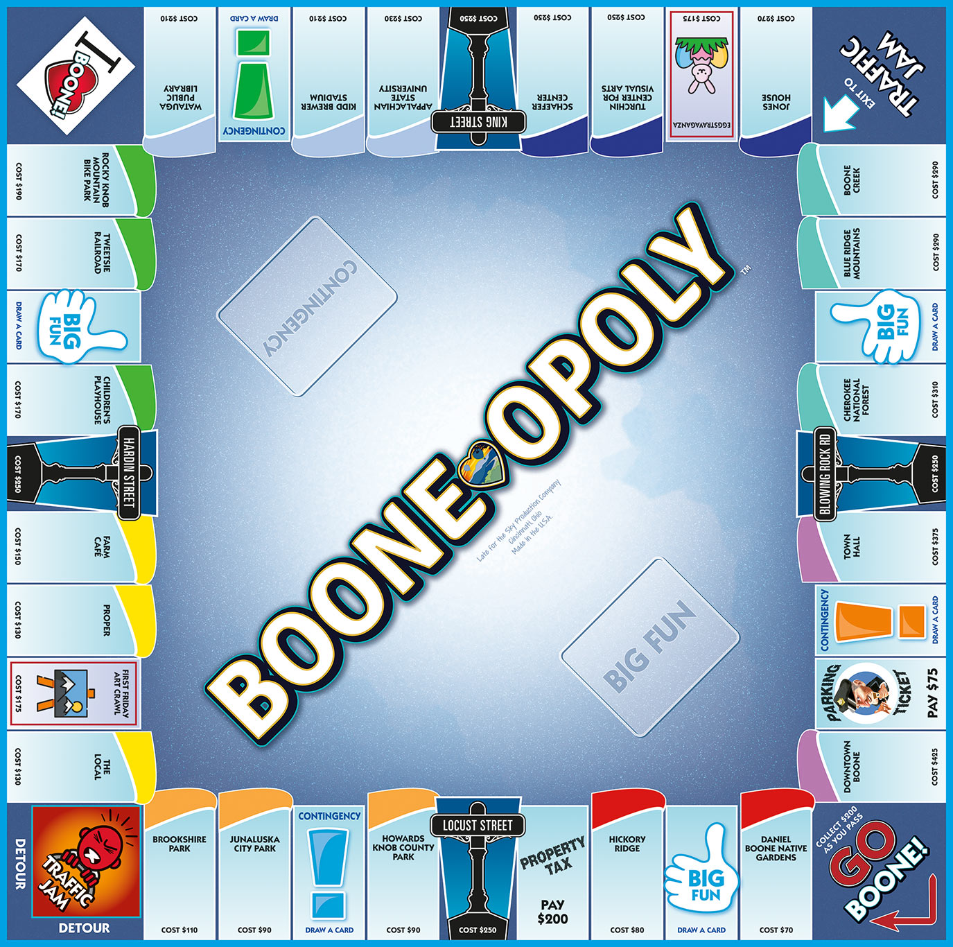 BOONE-OPOLY Board Game