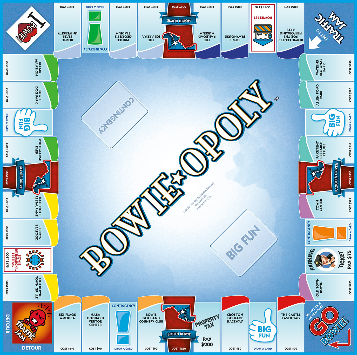 BOWIE-OPOLY Board Game