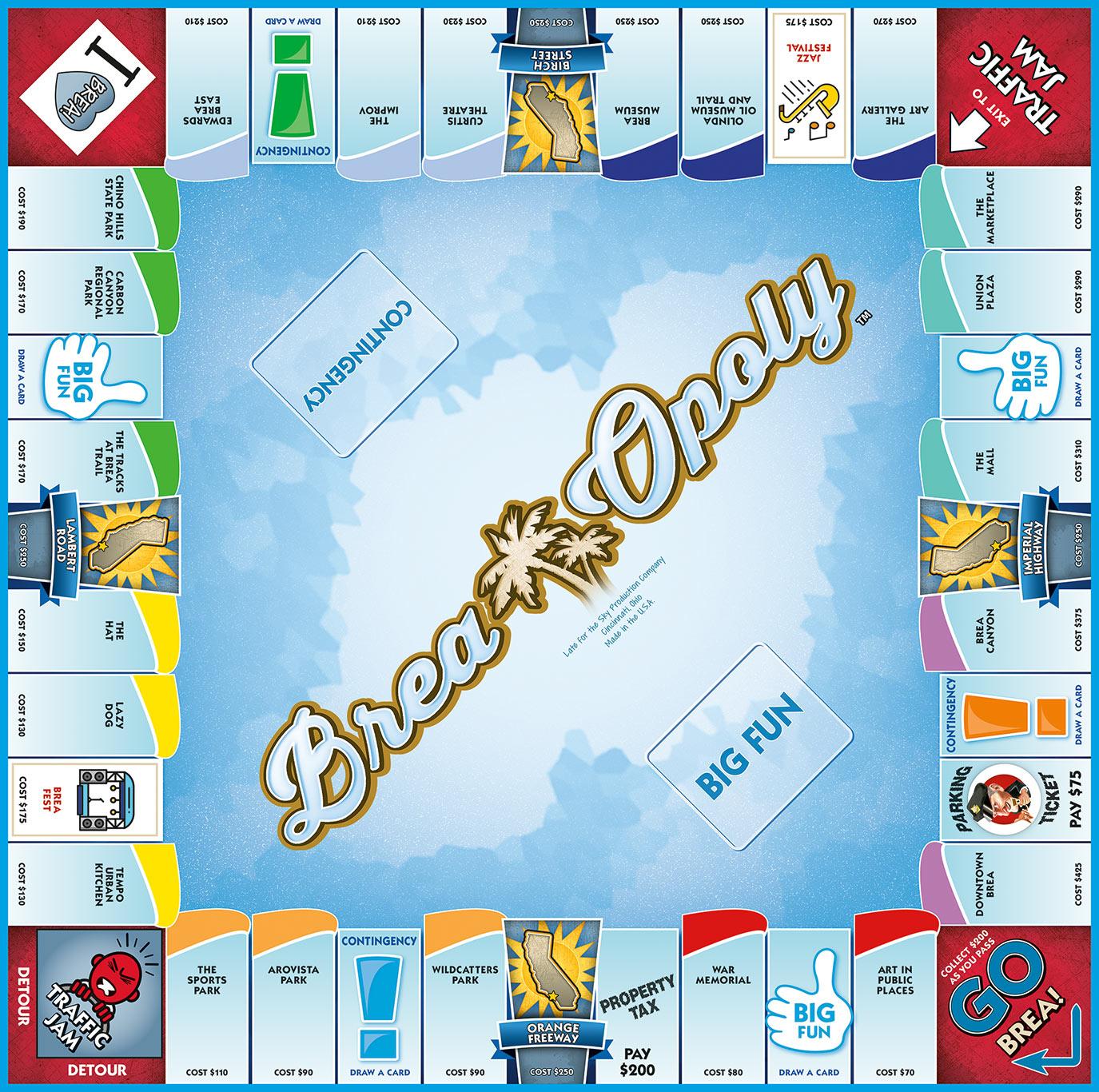 BREA-OPOLY Board Game