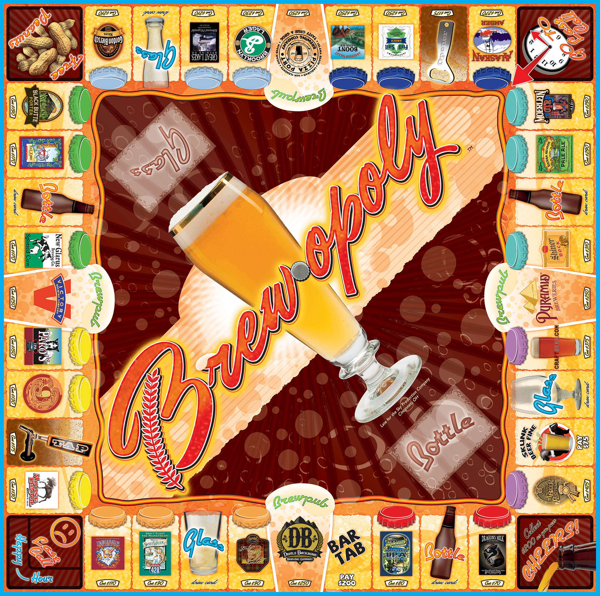 BREW-OPOLY Board Game