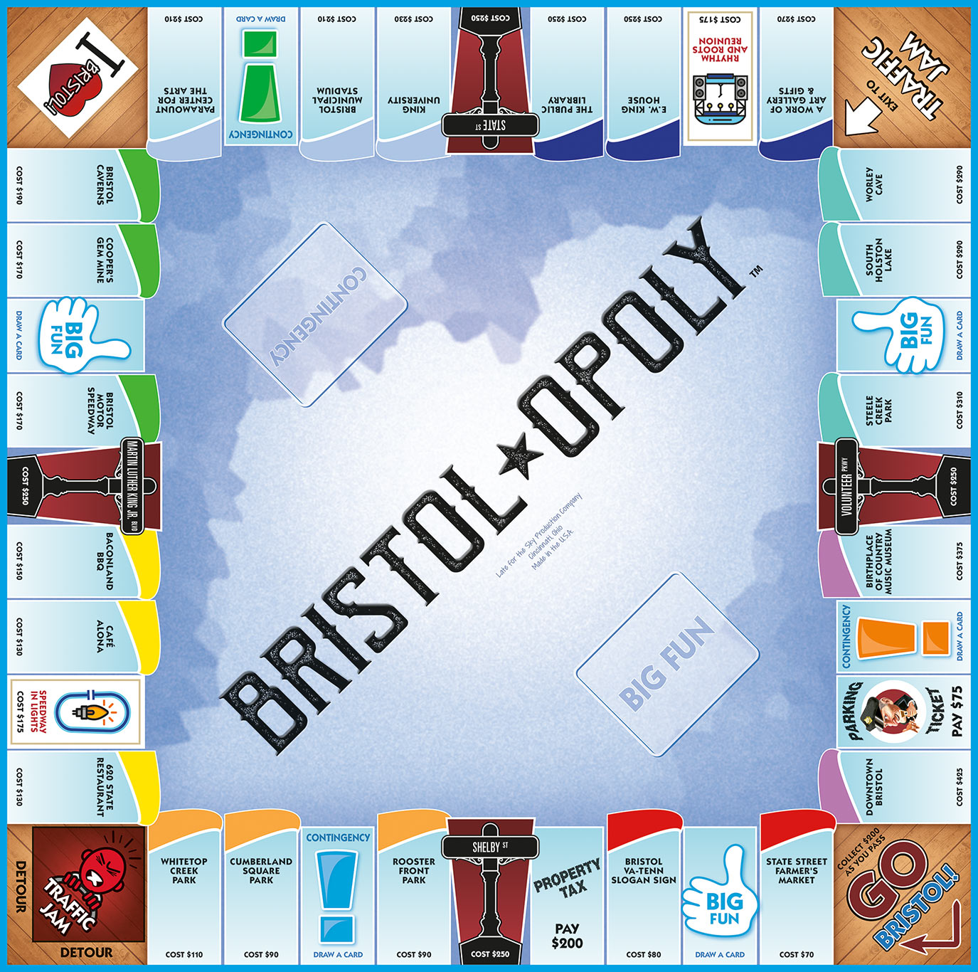 BRISTOL-OPOLY Board Game