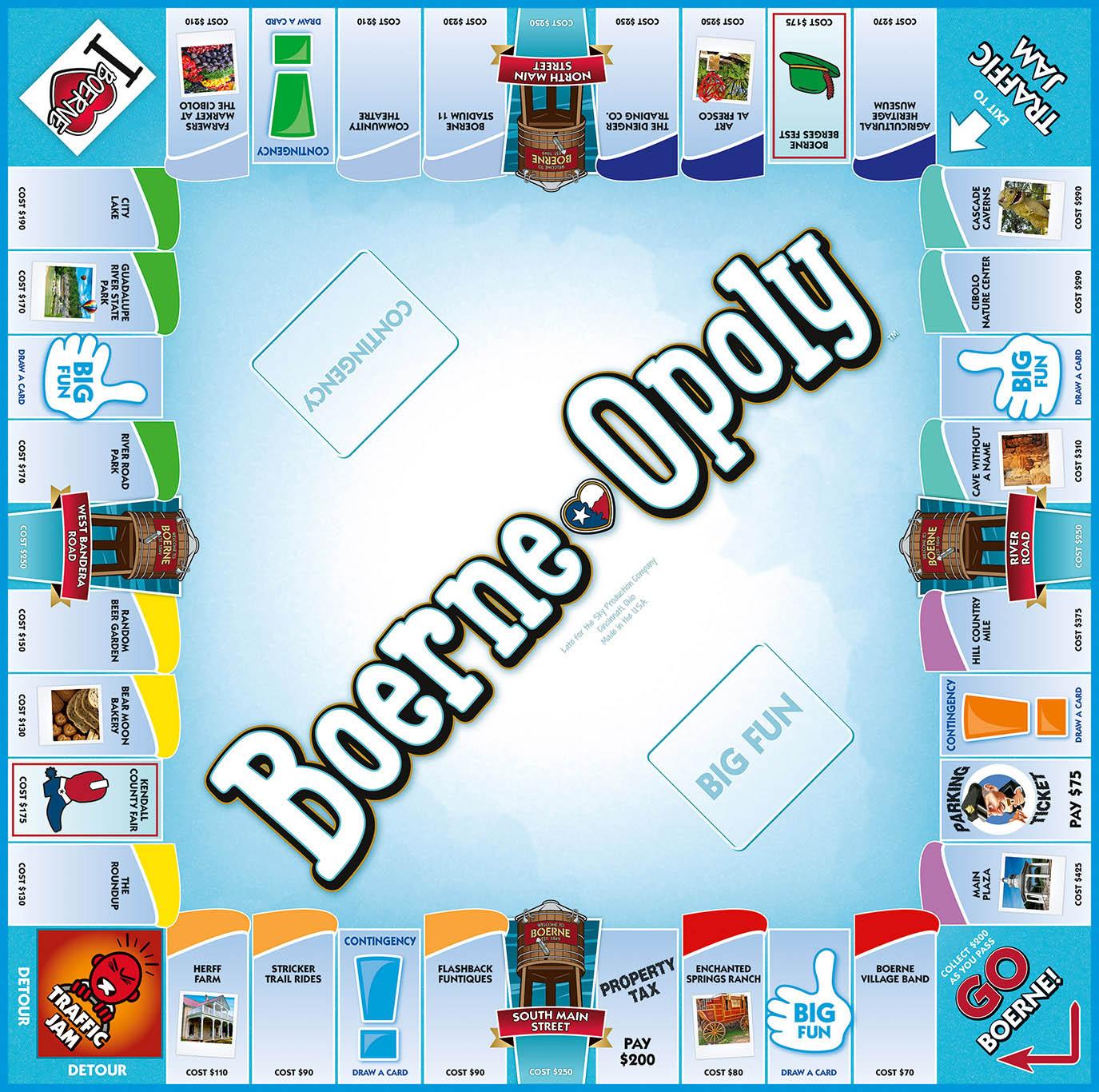 BOERNE-OPOLY Board Game