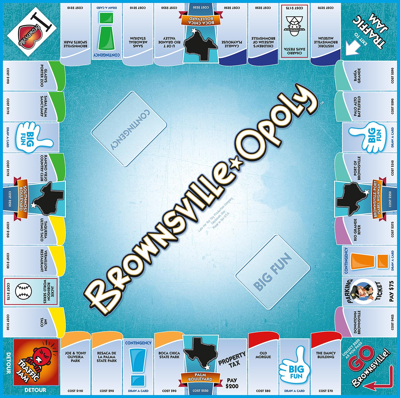 BROWNSVILLE-OPOLY Board Game