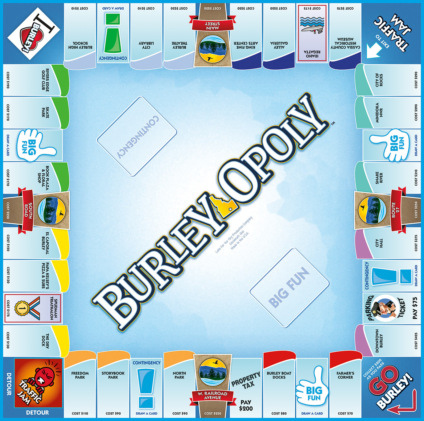 BURLEY-OPOLY Board Game