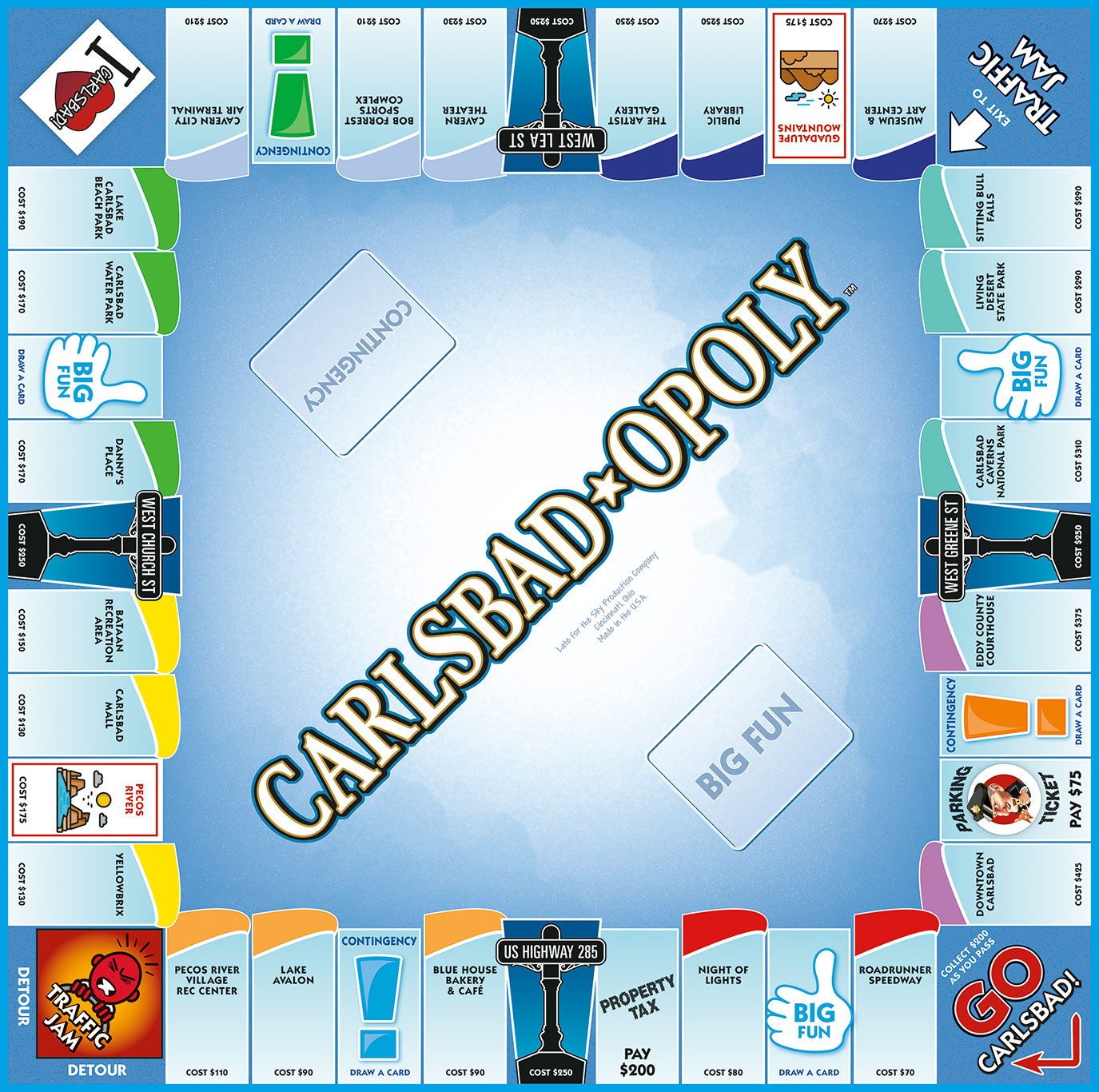 CARLSBAD-OPOLY (NM) Board Game