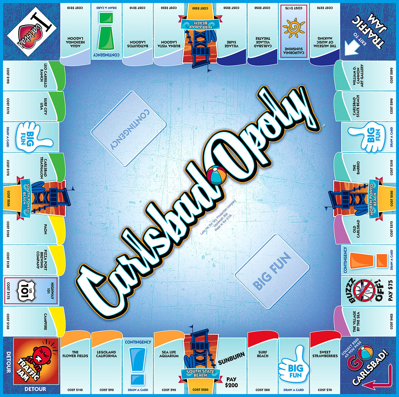 CARLSBAD-OPOLY Board Game