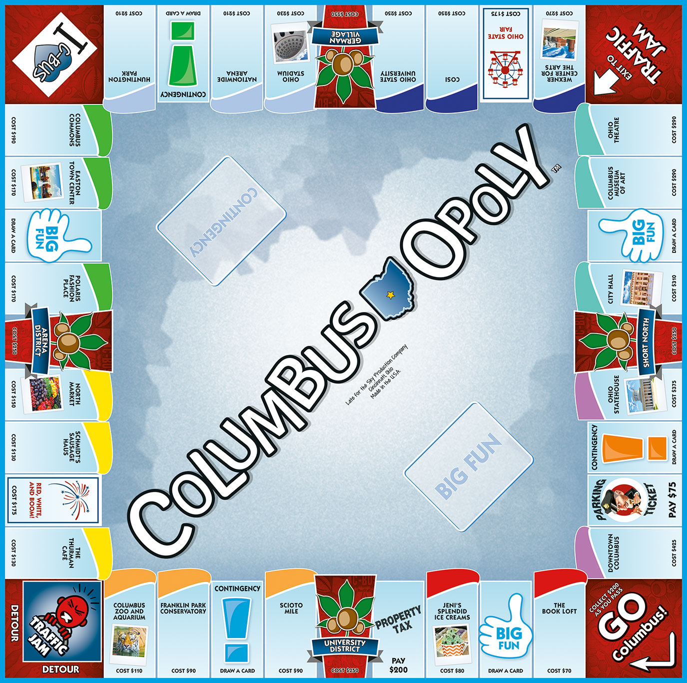 COLUMBUS-OPOLY Board Game