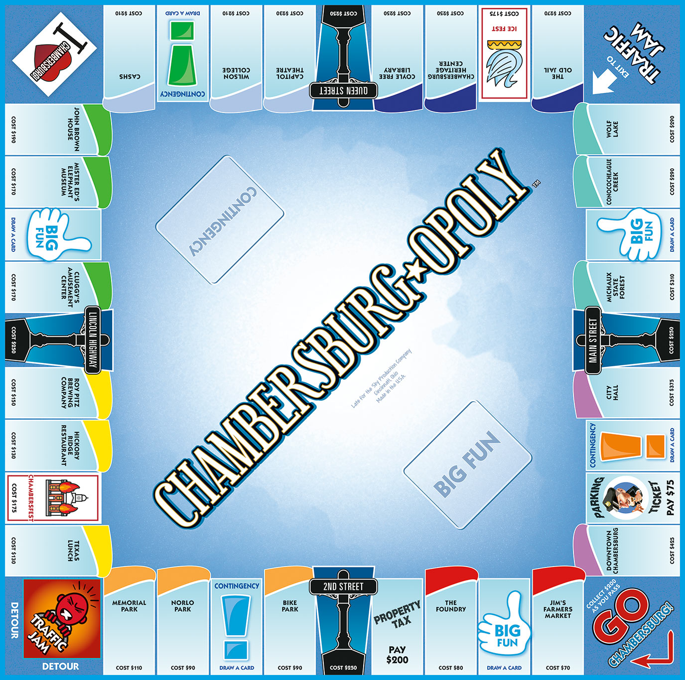 CHAMBERSBURG-OPOLY Board Game