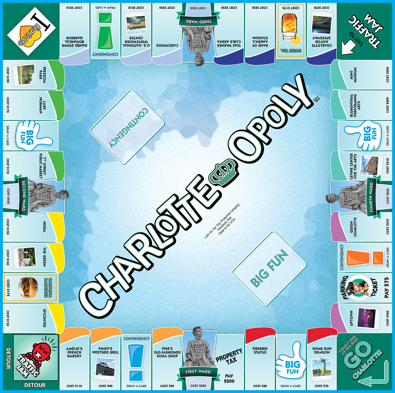 CHARLOTTE-OPOLY Board Game