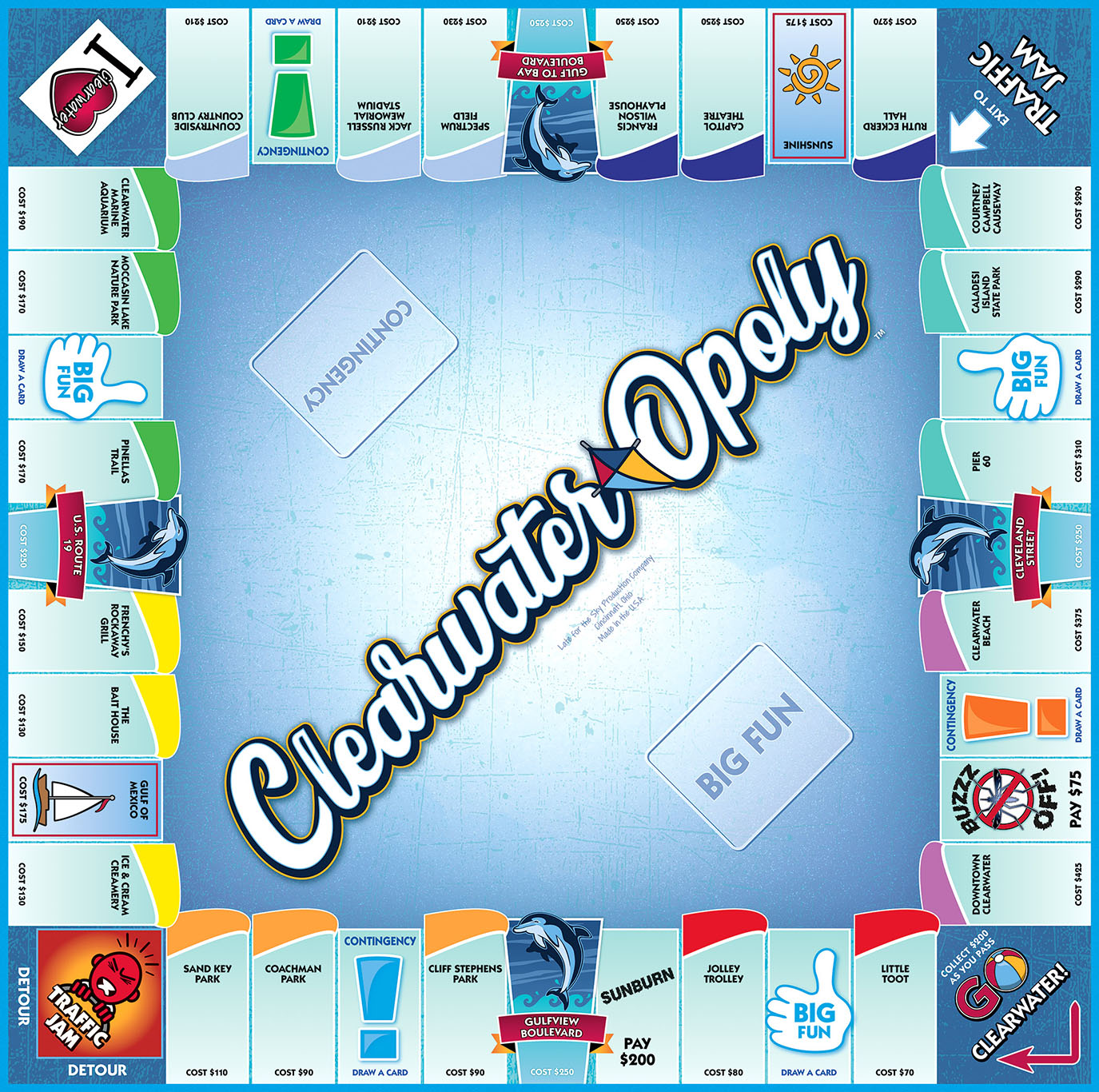 CLEARWATER-OPOLY Board Game