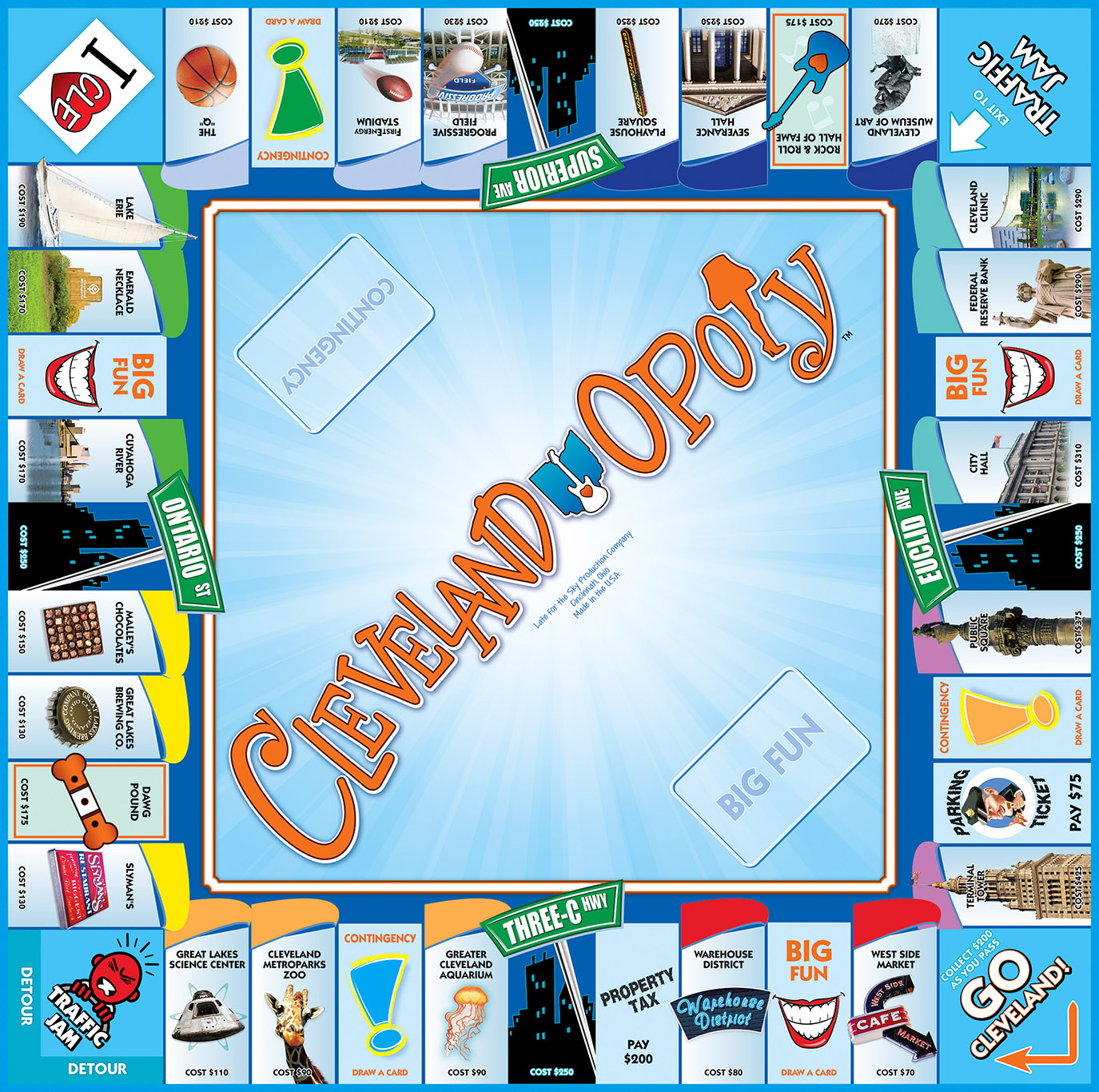 CLEVELAND-OPOLY Board Game