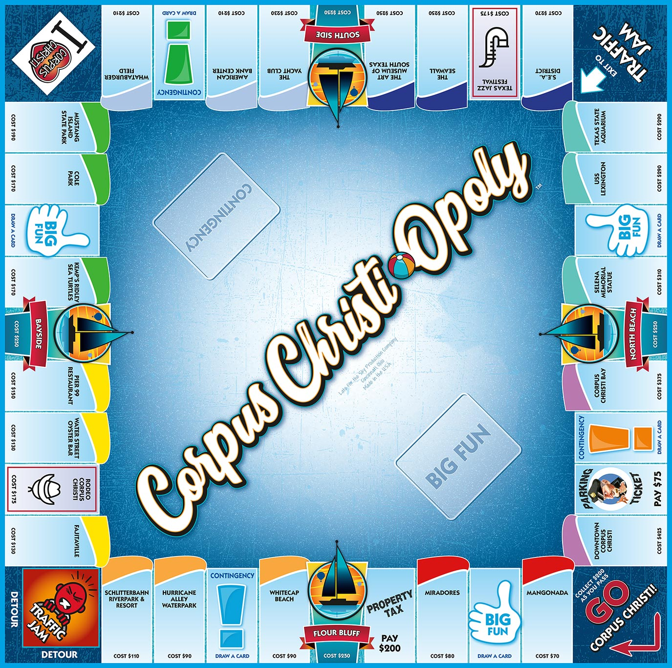 CORPUS CHRISTI-OPOLY Board Game
