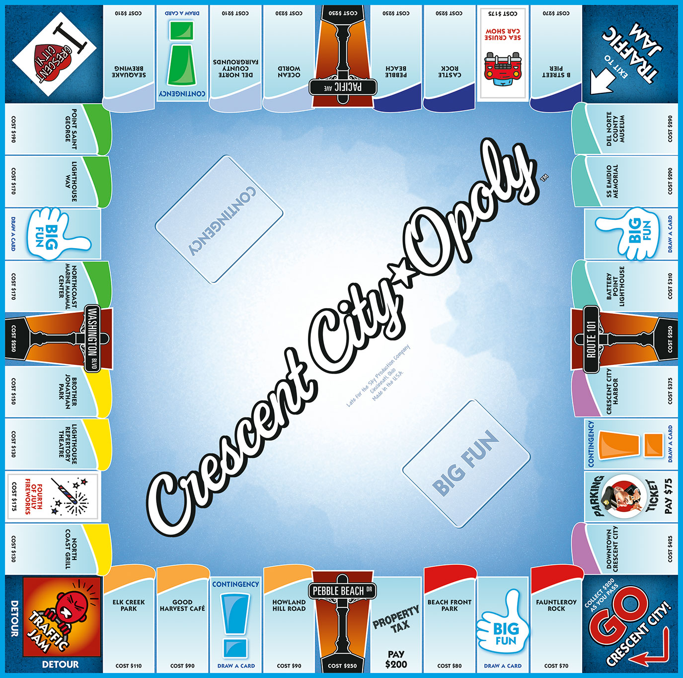 CRESCENT CITY-OPOLY Board Game