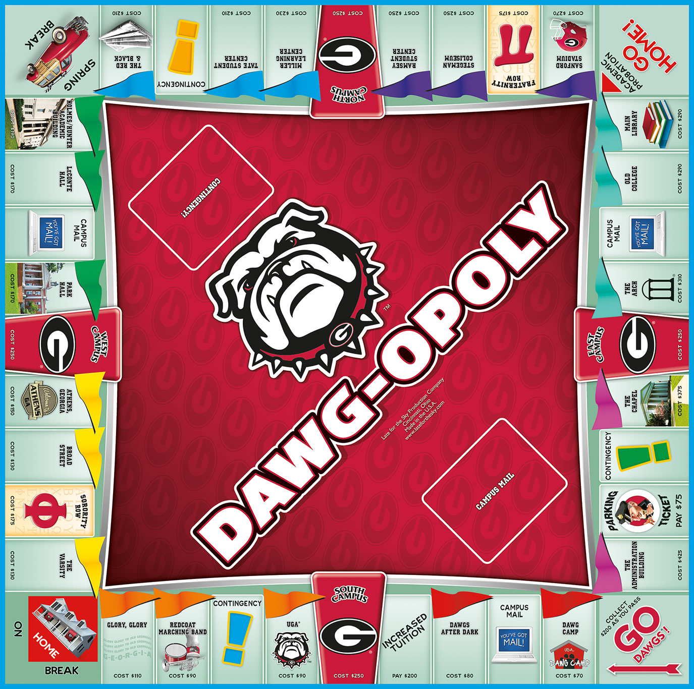 DAWGOPOLY Board Game