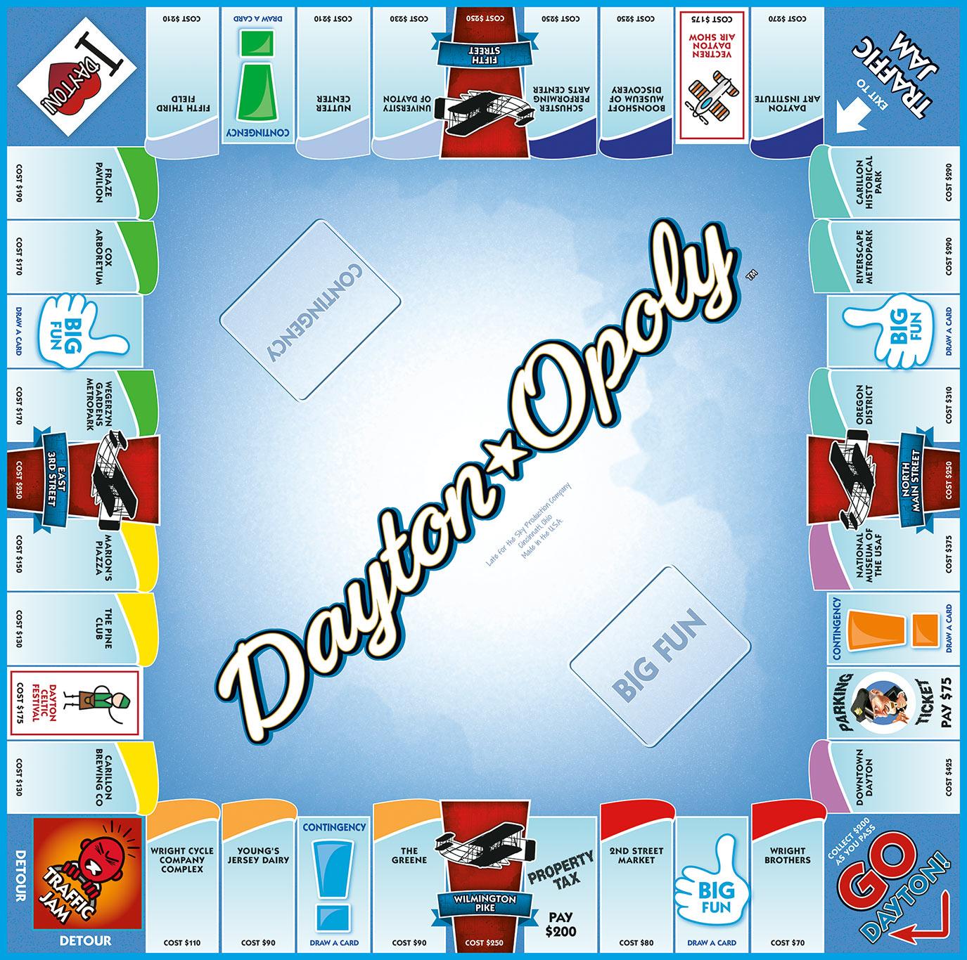 DAYTON-OPOLY Board Game