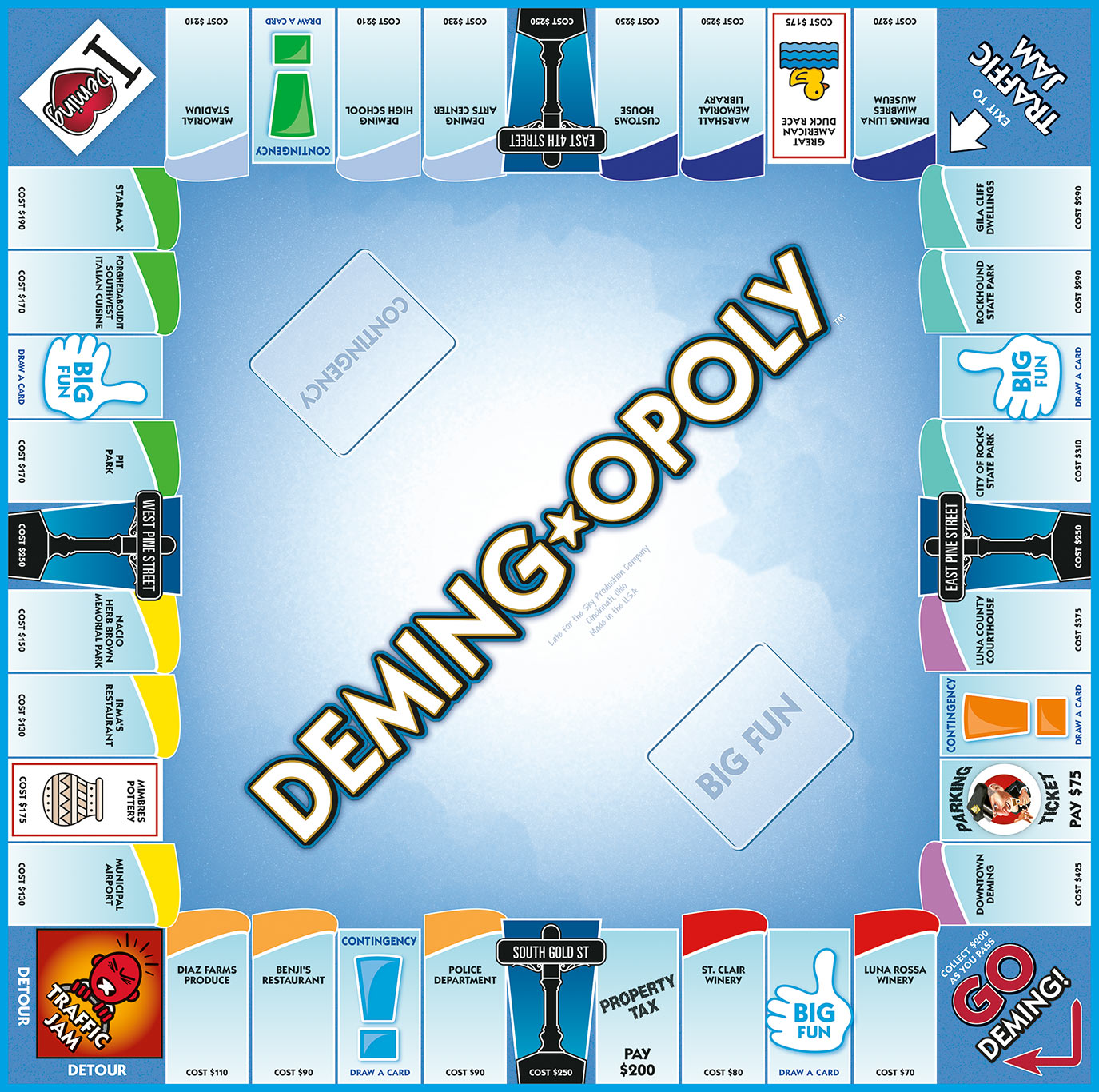 DEMING-OPOLY Board Game