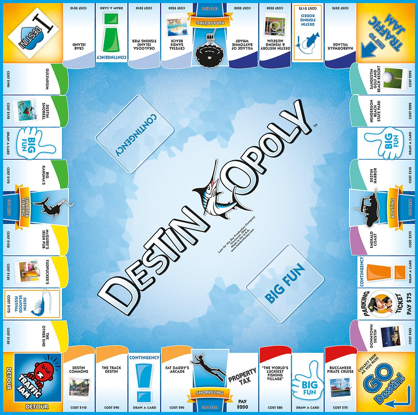 DESTIN-OPOLY Board Game