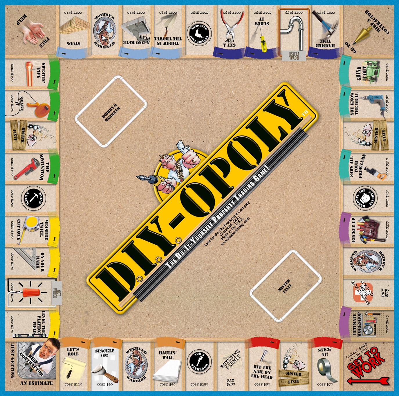 DIY-OPOLY Board Game