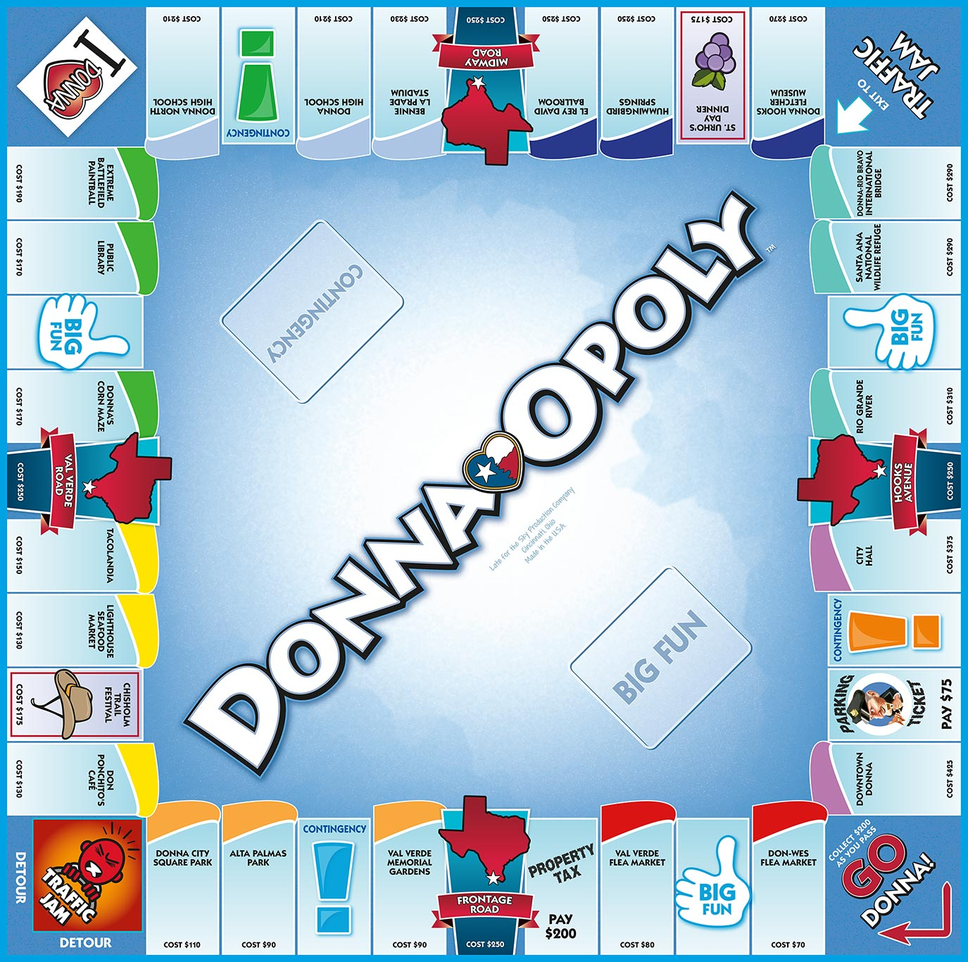DONNA-OPOLY Board Game
