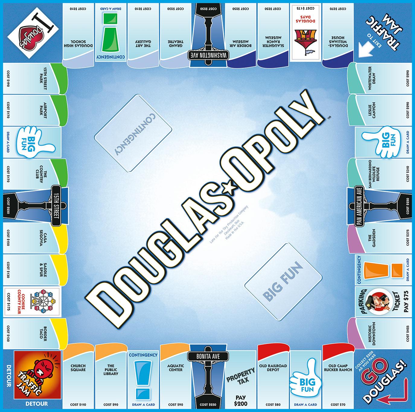 DOUGLAS-OPOLY Board Game