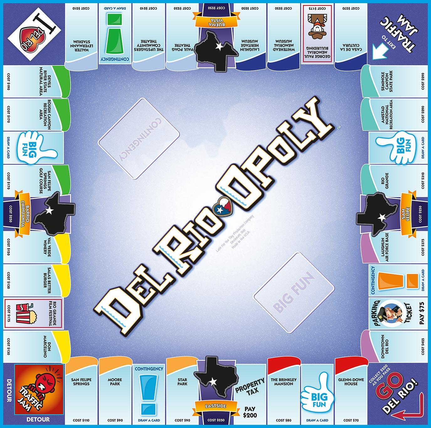 DEL RIO-OPOLY Board Game