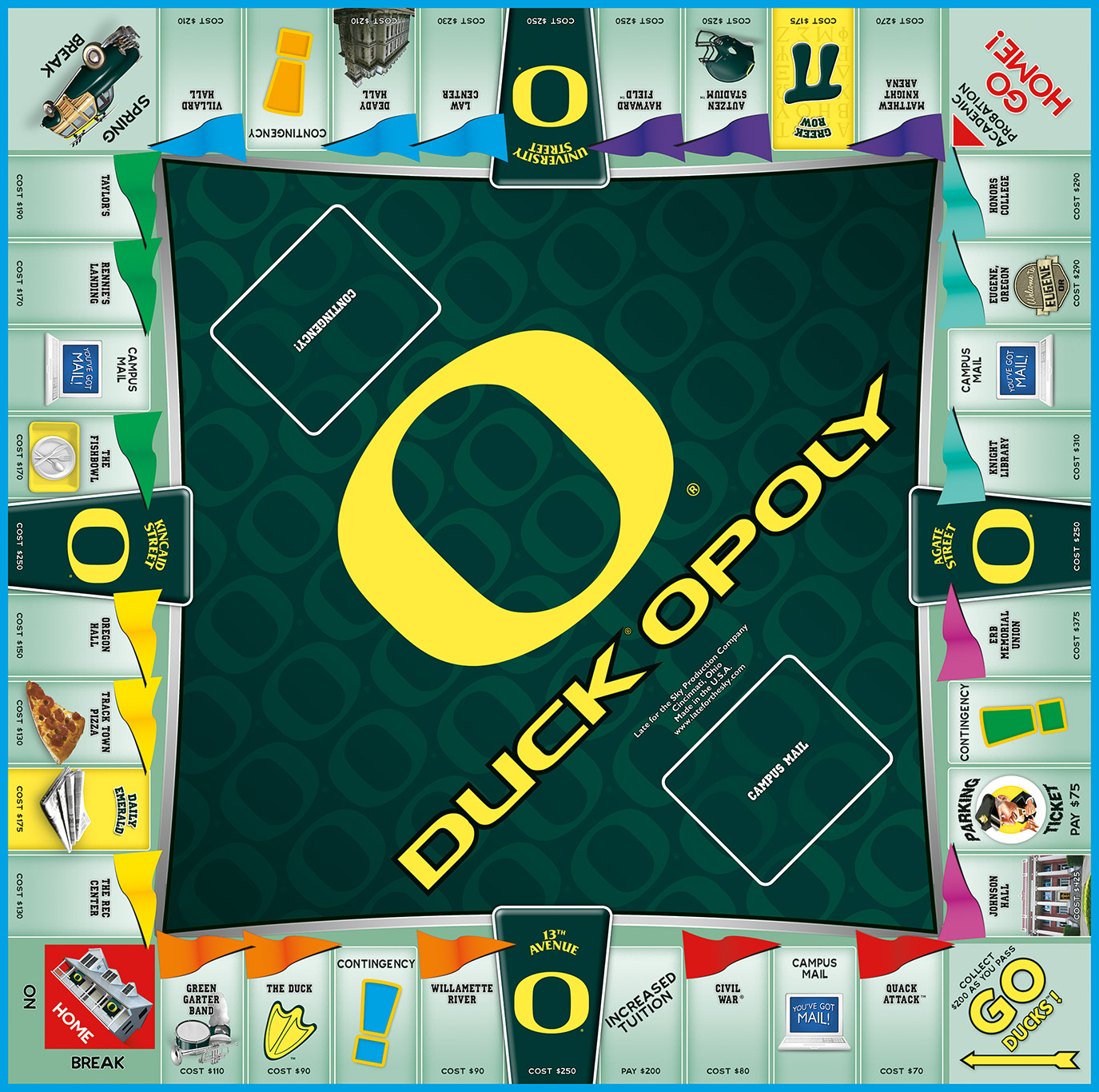 DUCKOPOLY Board Game