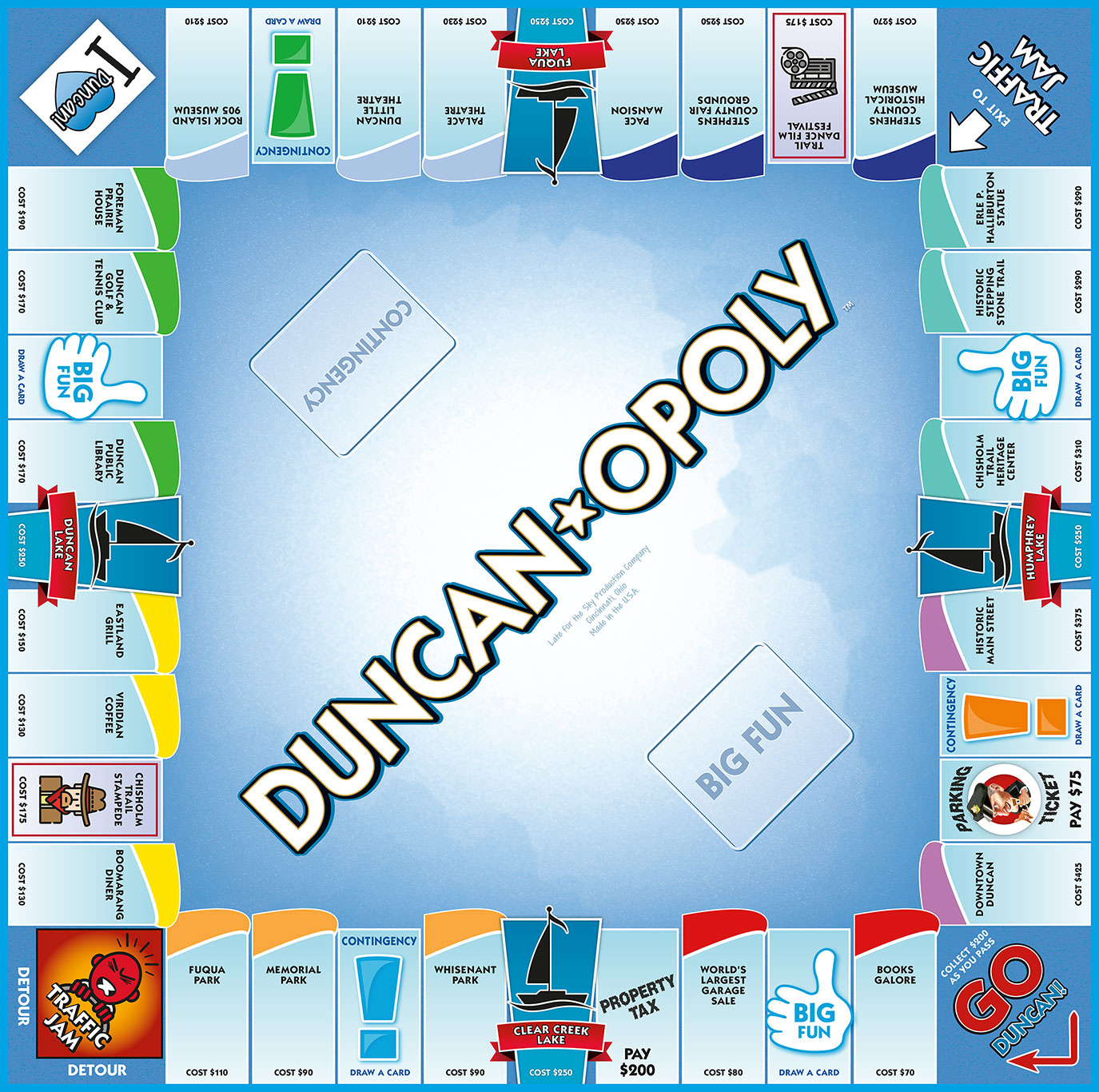 DUNCAN-OPOLY Board Game