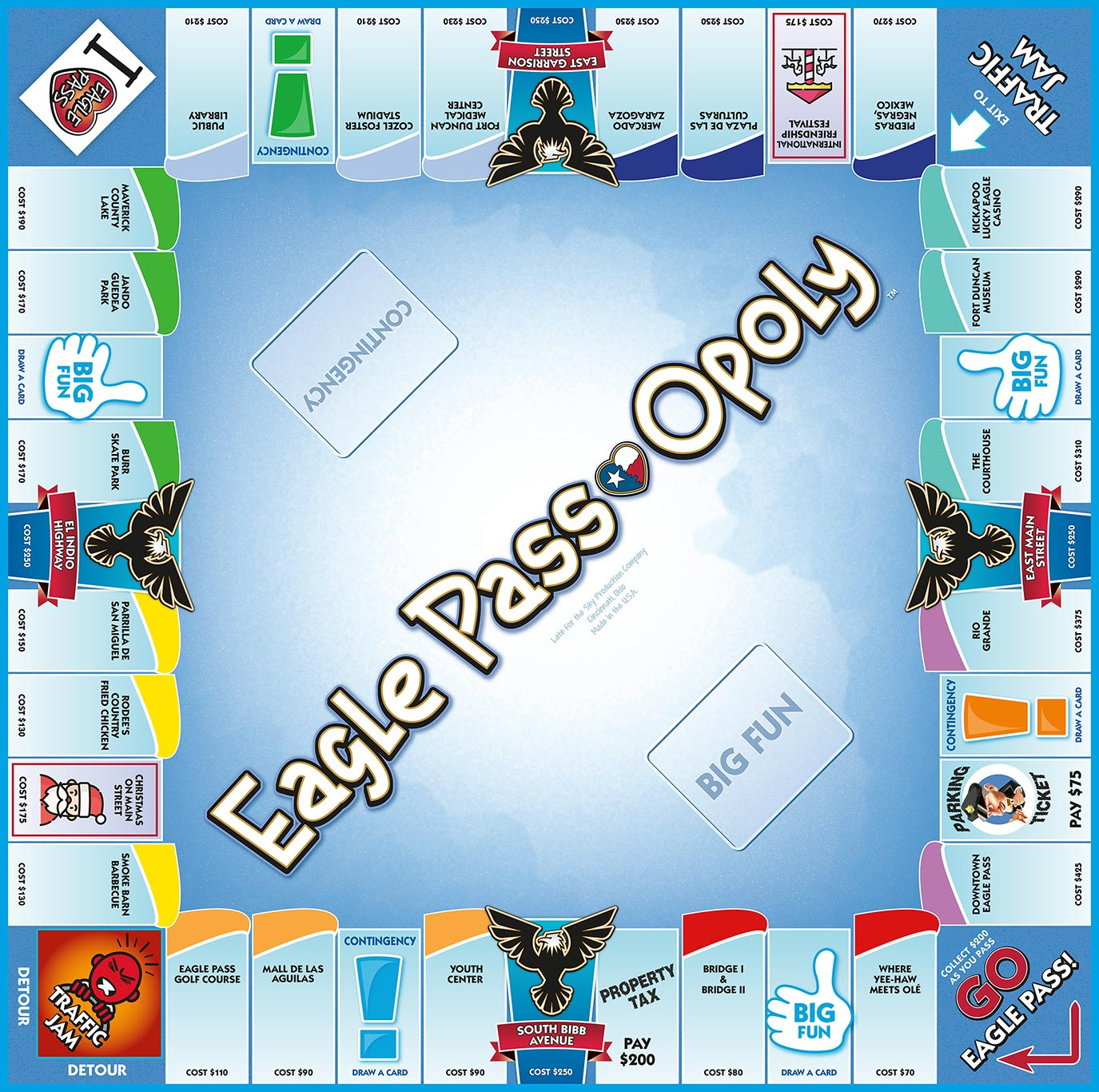 EAGLE PASS-OPOLY Board Game