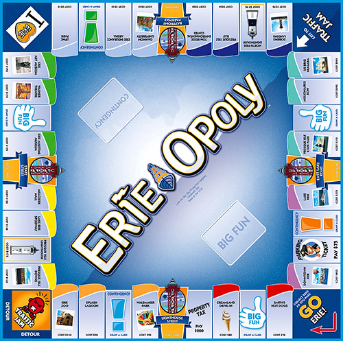ERIE-OPOLY Board Game