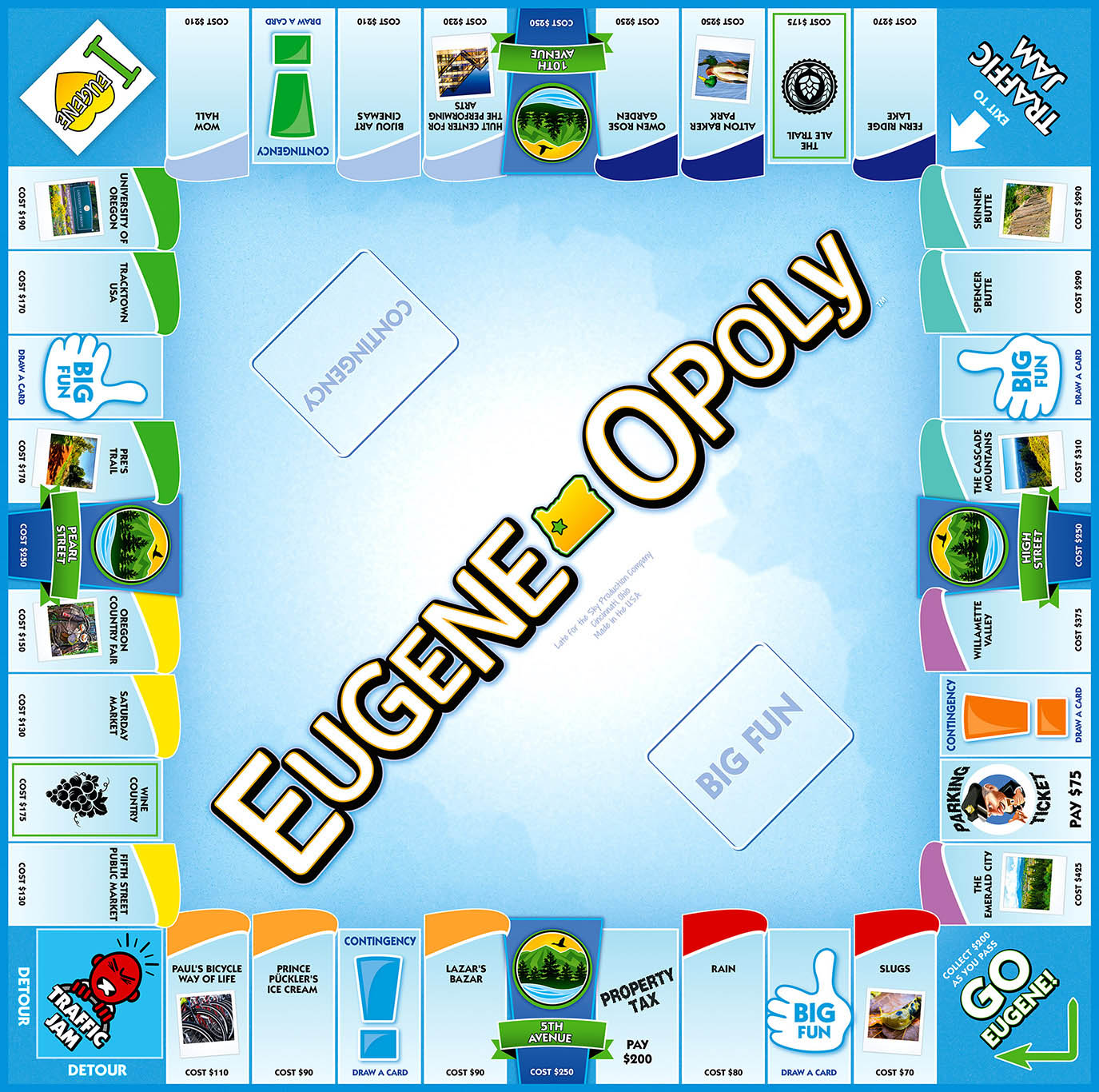 EUGENE-OPOLY Board Game