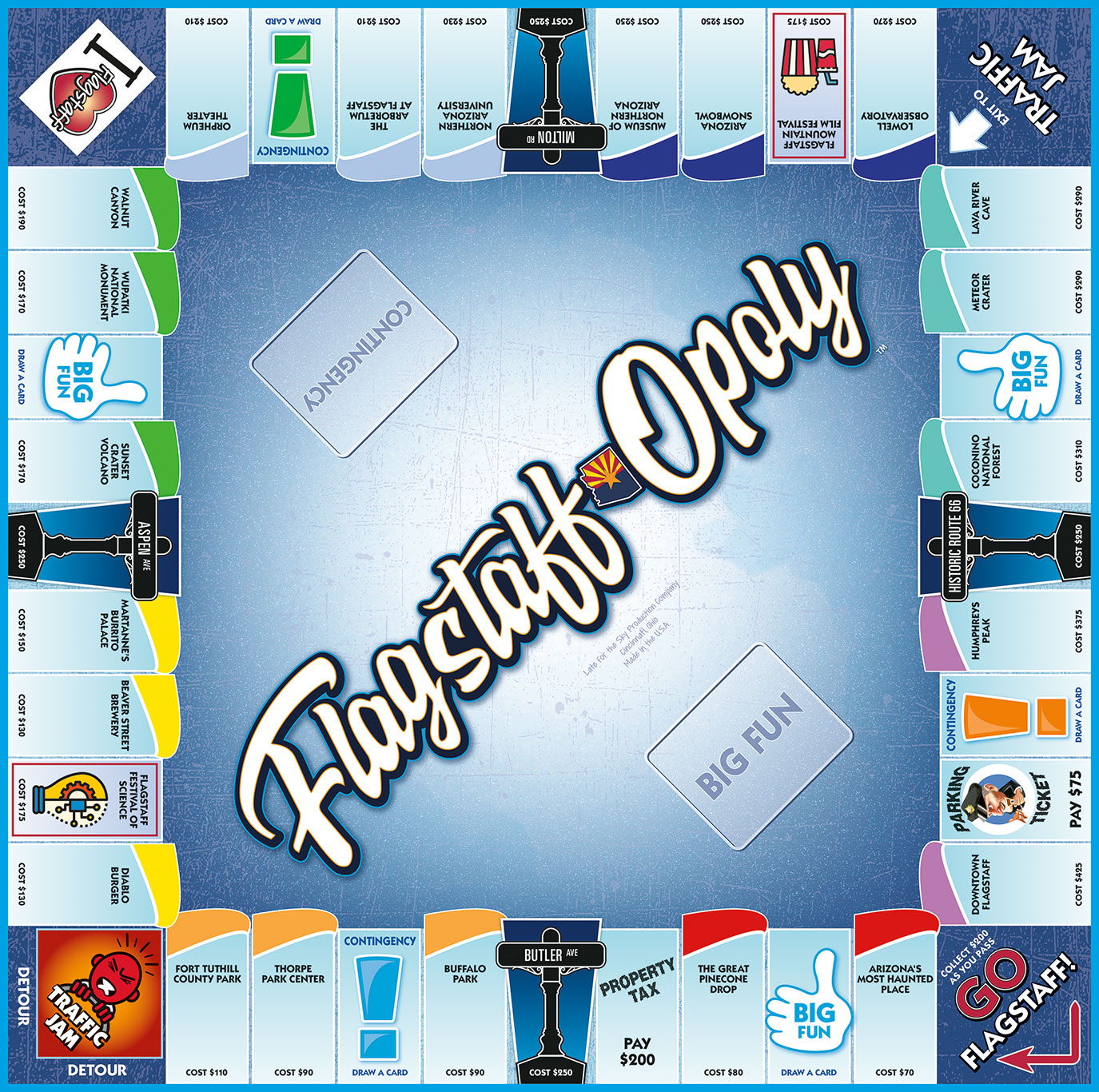 FLAGSTAFF-OPOLY Board Game