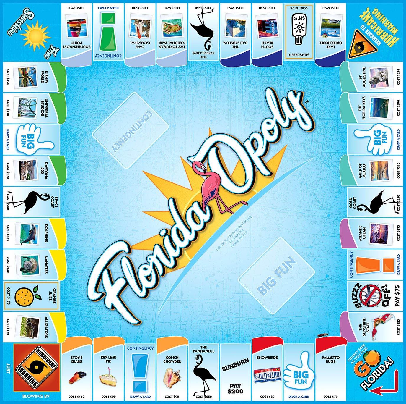 FLORIDA-OPOLY Board Game