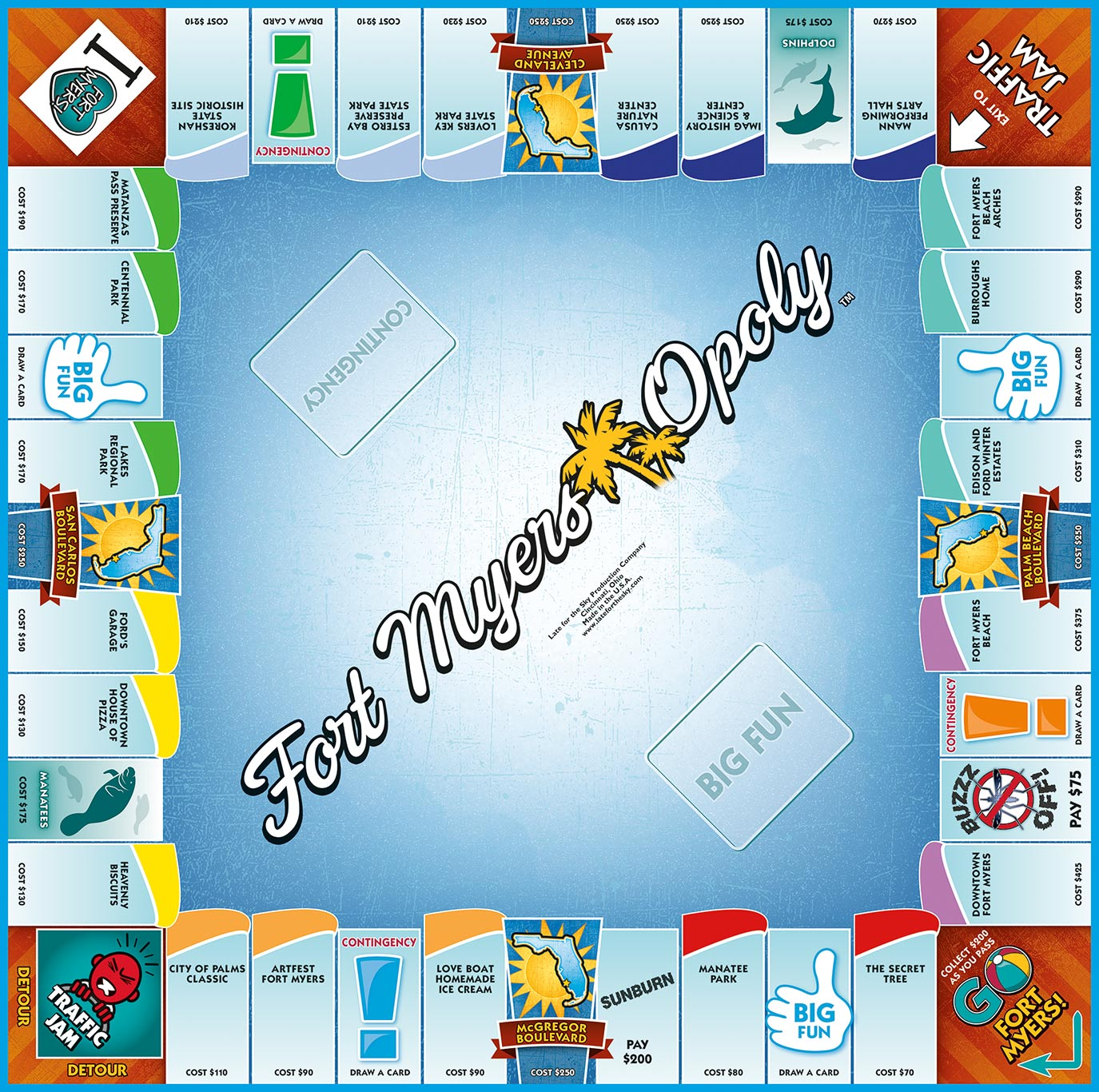 FORT MYERS-OPOLY Board Game