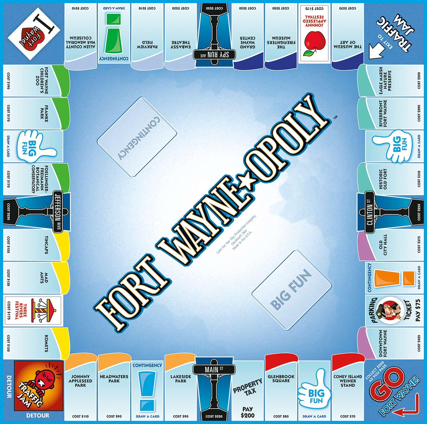 FT. WAYNE-OPOLY Board Game