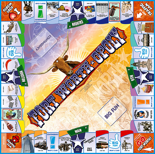 FORT WORTH-OPOLY Board Game