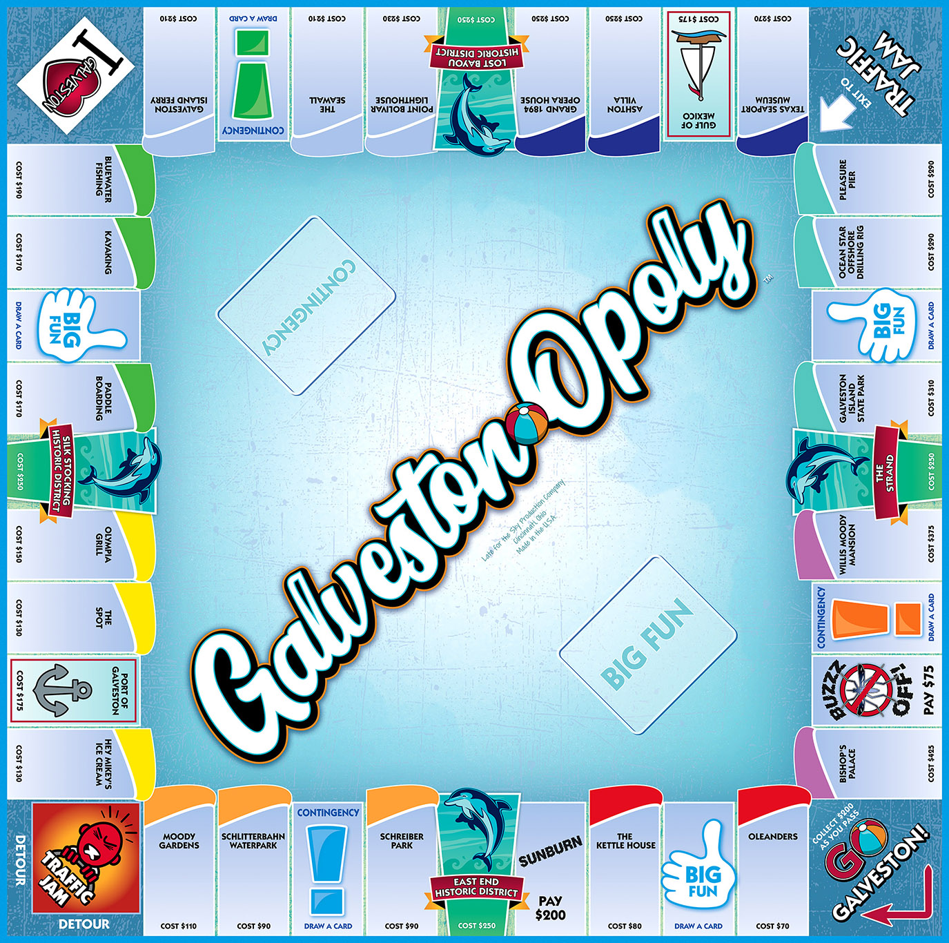 GALVESTON-OPOLY Board Game