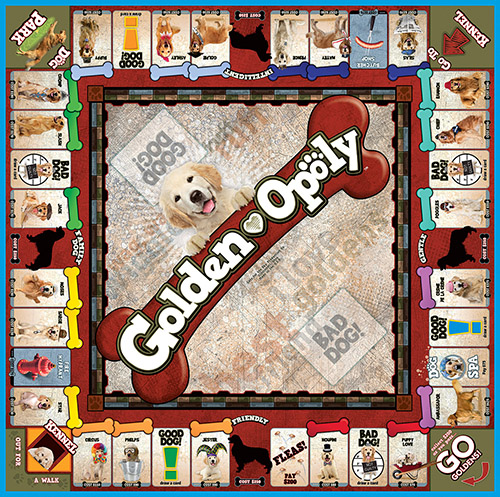 GOLDEN-OPOLY Board Game