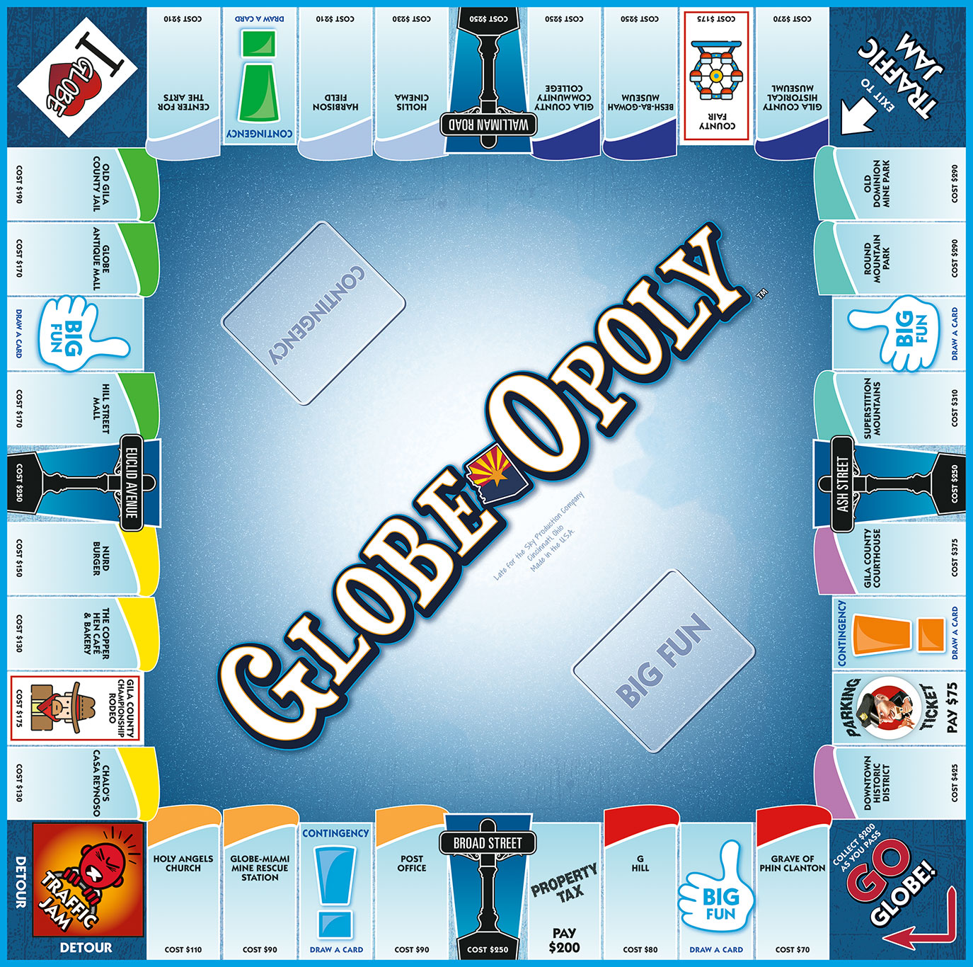 GLOBE-OPOLY Board Game