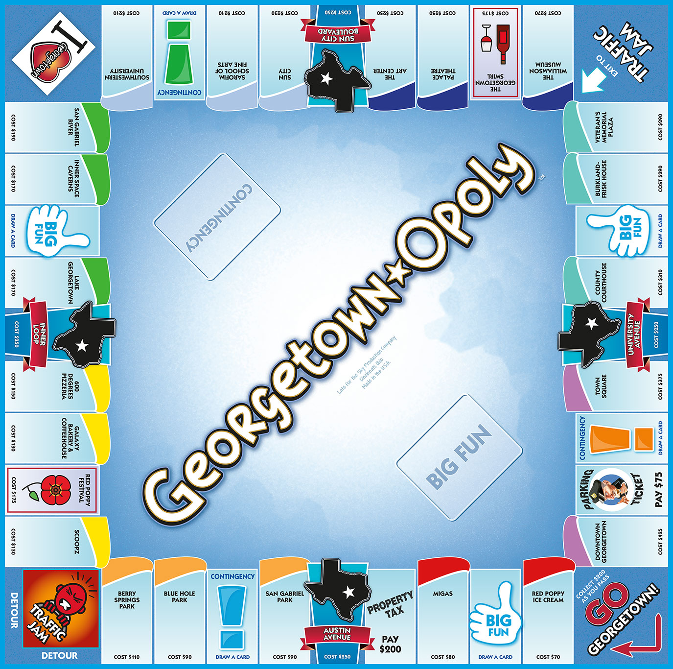 GEORGETOWN-OPOLY Board Game