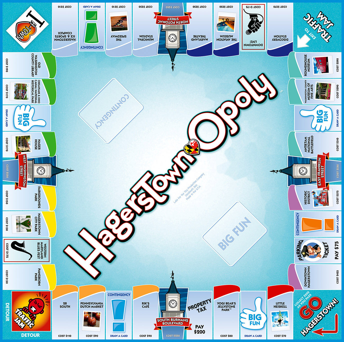 HAGERSTOWN-OPOLY Board Game