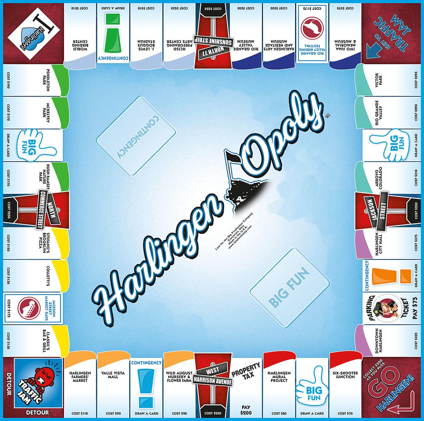 HARLINGEN-OPOLY Board Game