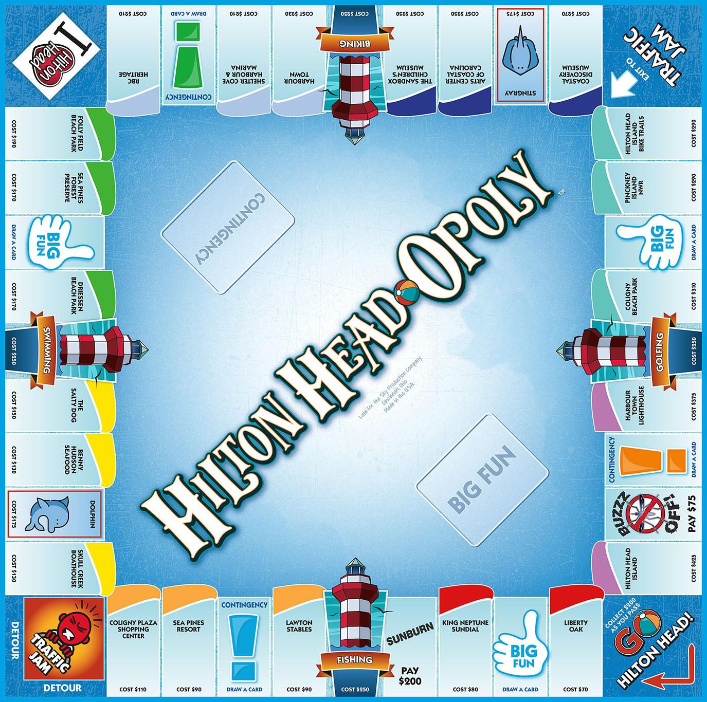 HILTON HEAD-OPOLY Board Game