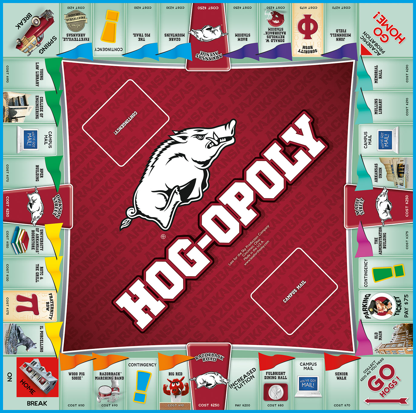 HOG OPOLY Board Game