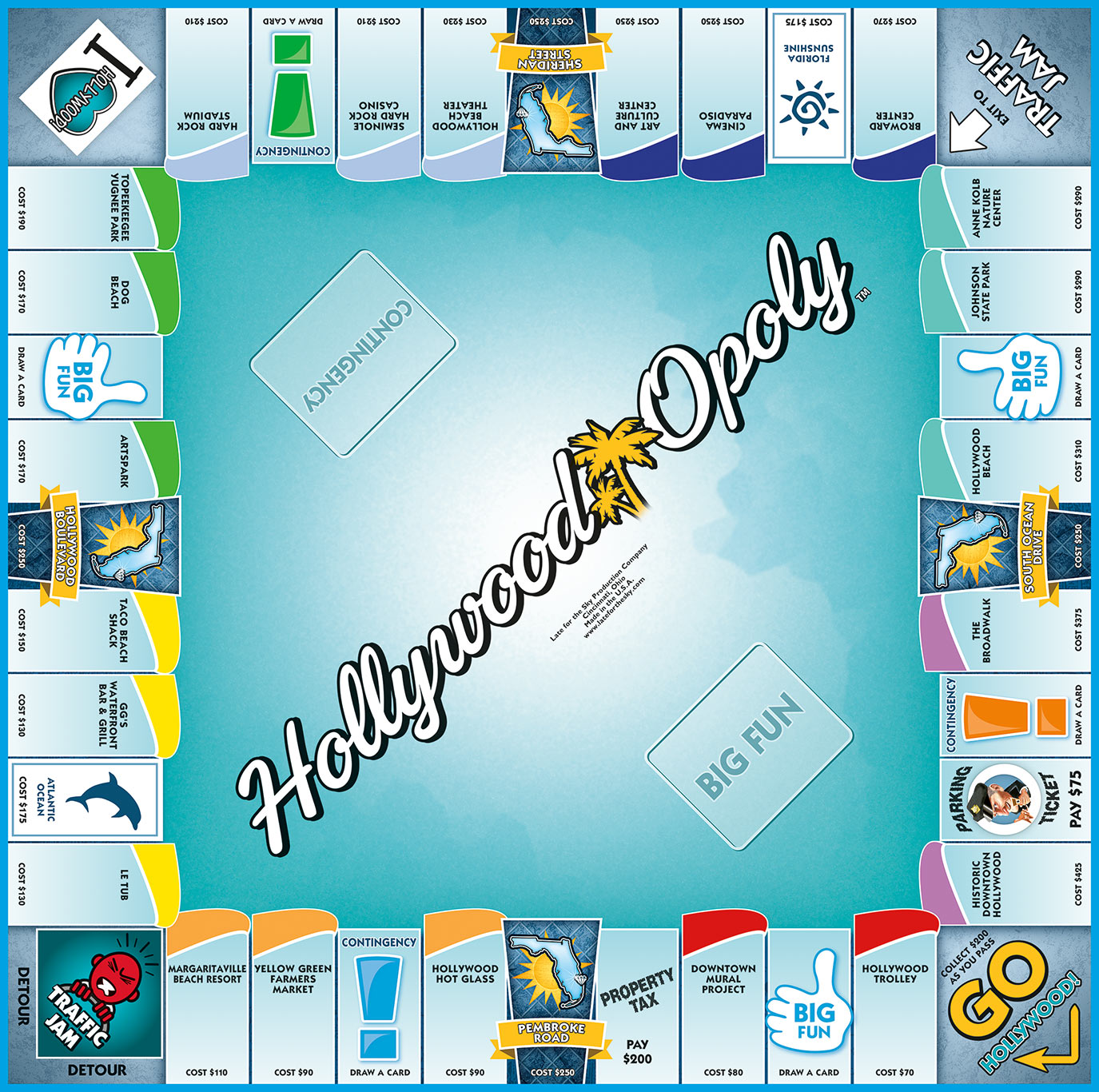 HOLLYWOOD-OPOLY Board Game