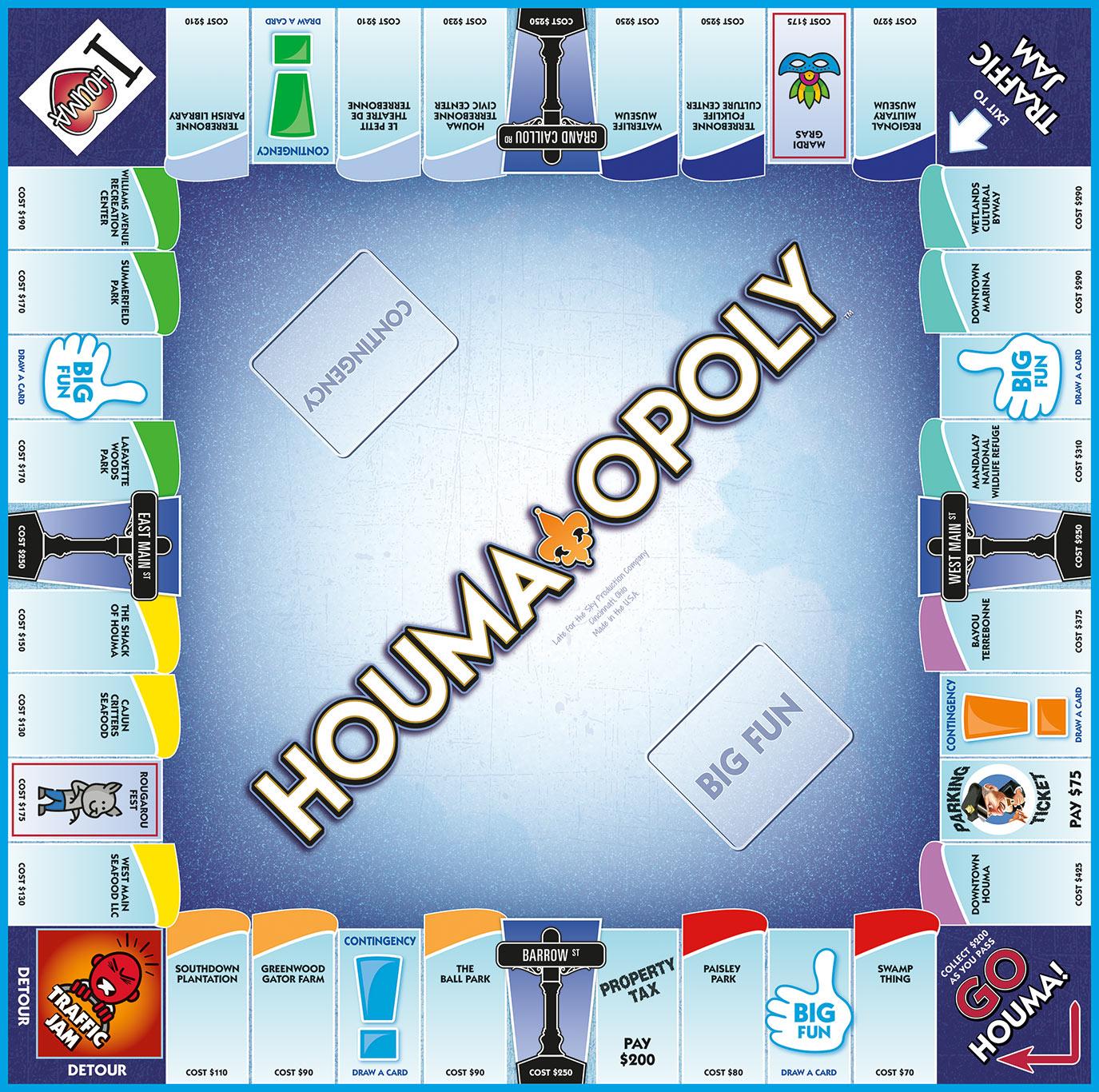 HOUMA-OPOLY Board Game