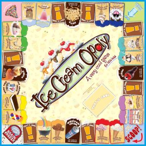 ICE CREAM-OPOLY Board Game