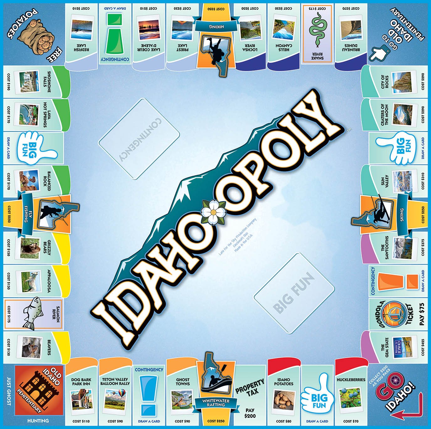 IDAHO-OPOLY Board Game