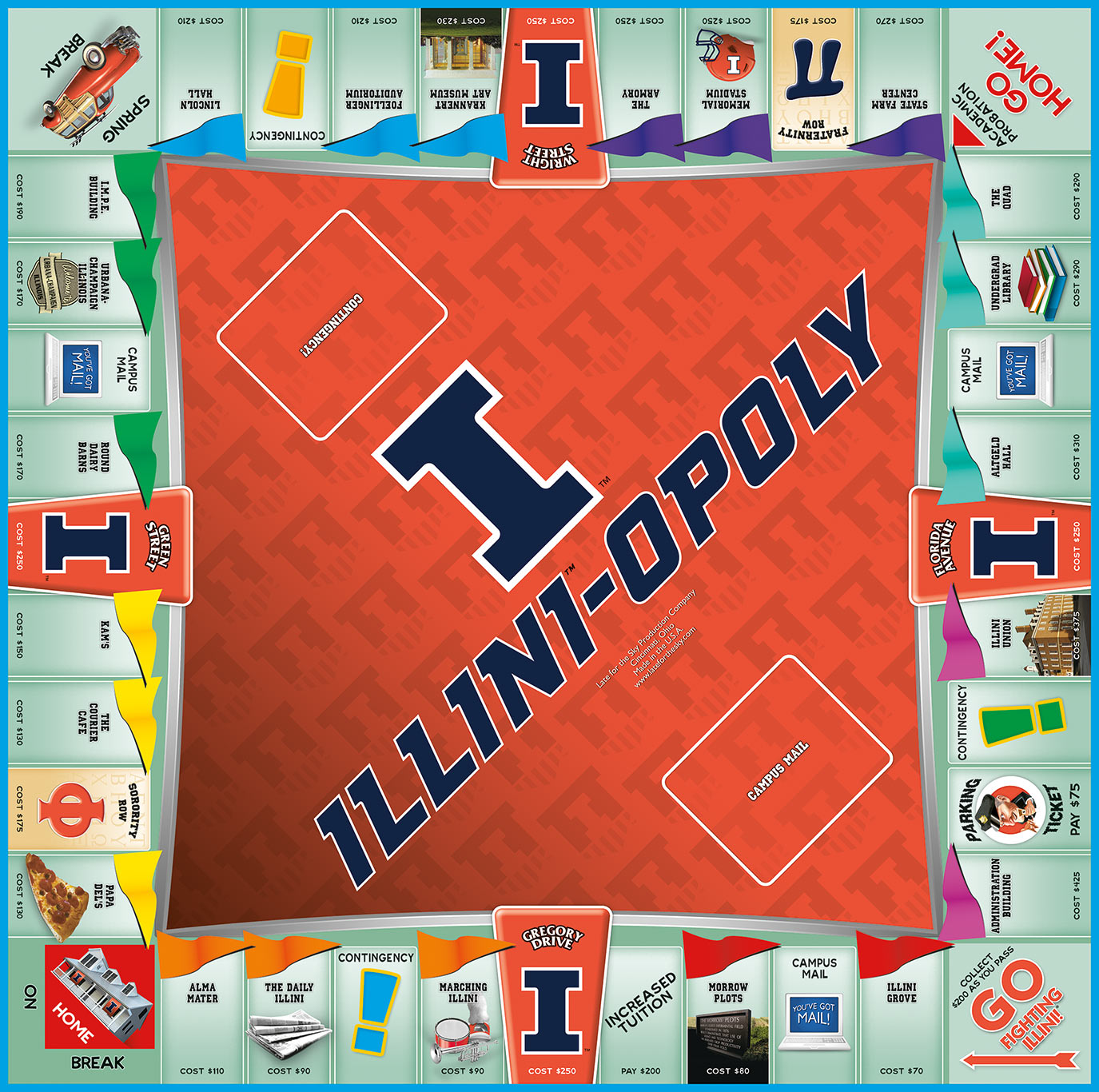 ILLINIOPOLY Board Game