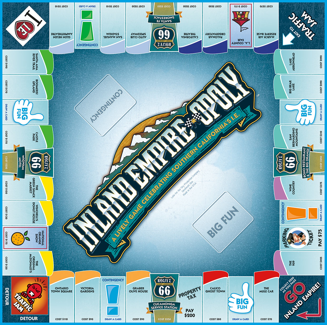 INLAND EMPIRE-OPOLY Board Game